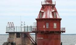 The U.S. General Services Administration is pleased to announce the online auction of Ship John Shoal Lighthouse (1877). This charming property is located offshore about 3 miles south of the mouth of the Cohansey River. It marks a hazardous underwater