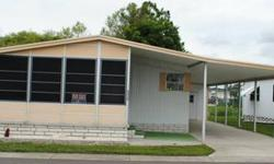 This is a 1980 doublewide home for $11,500 with 2/2 and 960 SqFt. It has a new shower, new water heater, fully furnished, with washer, dryer, carport, shed, and very nice Florida room. It's a 55+ community, with pool access, and pet friendly. call