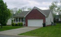 For more information, contact Jim Sellers at (615) 430-2427. Adorable home, 3 Bdrm, 2 Bath, Fireplace in LR, Eatin Kitchen, Large Master. $1500 Carpet Allowance, $500 Paint Allowance with full price offer. Back yard is perfect for children. Conenient to