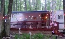 Sleeps 6-8 comfortably. Located on the Lake Hilbert Campground Goodman WI Lot rent paid until next March (2013). Lot rent only $1250 per year. Water included. Large, landscaped yard, nice large deck, 10x16 large shed with steel roll door and tin roof. ATV
