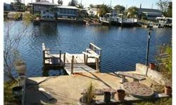 Cute 2 bedroom 2 bath home on the canal in Signal cove going out to gulf of mexico in Pasco County! Double lots, dock, and shed. Enclosed lanai, eat in kitchen, split plan, carpet and vinyl. Don't miss this one! Bedrooms: 2 Full Bathrooms: 2 Half