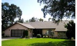 Lovely pool home in Autumn Oaks. Great room floor plan with a fireplace, formal dining area and breakfast nook. Nice size kitchen with breakfast bar, light, bright interior and sliders to a gorgeous screen enclosed lanai and free form waterfall pool. Big