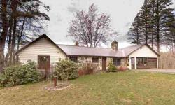 Sapcious 3 bedroom ranch on 3.6 acres with laundry room on first floor. Hardwood floors throughout with fireplace and pellet stove for cozy warmth. Great potential for basement area with fireplace, door and windows to backyard. Additional parking space in