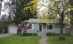 Charming 3 bedroom (1 non-egress), 1 bath bungalow located in desirable South Hill neighborhood. Updated kitchen with stainless steel appliances and updated full bath. Hardwood floors in bedrooms, open floor plan, oversized family room in basement. New