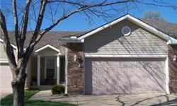 Enjoy an easy affordable lifestyle in this maint. provided community. All newer carpeting on main level. Beautiful wood floors and cabinets in eat in kitchen with breakfast bar! Comfy vaulted great room with FP & plant ledge. Double vanities & whirlpool