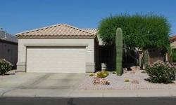 """Darling Sun City Grand vacation getaway home for sale. Light 18"""" tile in all but bedroom & den, private walled backyard, screened in patio, powder bath, loads of storage in garage. Must see! Listing originally posted at http"""