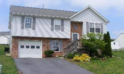 Nice Split Foyer in great Winchester location! New carpet! Appliances intact, open kitchen, dining room. 3 bedrooms, 2 full baths on main level. Lower level has family room w/fireplace, tile floor, full tiled bathroom, and possible 4th bedroom. Garage.