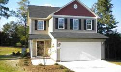 New construction!! You will love the interior colors on this great 2 level home*family room with gas logs*spacious kitchen with premium granite counters and tile backsplash*ss appliances*huge master suite with dual vanities, garden bath-tub with tile