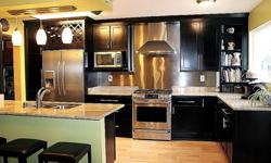 3 bdrm, 2.5 bath, 1500 sq.ft, newly renovated galley style kitchen with built in wine rack, stainless steel back splash, granite countertops, espresso specialty cabinets, double pantry with shelves that pull out, built in trash can & recycling bin, all