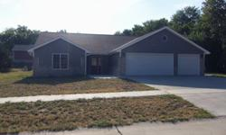 New home for sale located in Wamego, KS. This home is 1900 sq.ft. The 3-stall garage is 600 sq. ft. It is a 3 bedroom, 2 Bath, office/media room, above ground storm shelter, large walk-in pantry, custom cabinets, large walk-in laundry room, plenty of