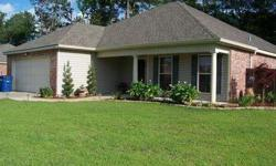 5 year old home with 3 bedrooms and 2 baths in Moss Bluff. Features include