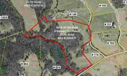 22+ acres of absolutely perfect property! Build your dream home here and bring your horses or cattle. Property rolls softly, making it perfect pasture for horses, with several wonderful build sites. A mixture of hardwoods and pines on land that is