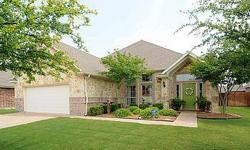 True pride of ownership is evident in this beautifully decorated Aledo ISD home. Hardwood flooring, designer colors, split bedrooms, gourmet kitchen set this home apart from the rest. Not to mention the VERY competitive asking price! Listing originally