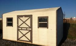 10x16 pre-owned metal building. Wired for electricity. Door and 2 windows on the wide side.