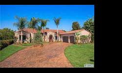Gorgeous single story tuscan villa w/private guest quarters!! Listing originally posted at http