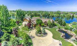 Gated water front acreage estate situated on the shores of Moon Bay Lake. No expense was spared in designing interior/exterior of home. Includes palatial driveway entry, lg front porch, sunny courtyard, gently sloped sandy beach, private boat dock for
