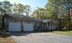 2001 RANCH WITH 3 BEDROOMS, 2 BATHS, 4.4 ACRES, 300 FEET OF WATER FRONTAGE ON SABATTUS RIVER, FINISHED WALKOUT BASEMENT, OVER 2,300 SQUARE FEET OF LIVING SPACE, FAMILY ROOM, SPACIOUS WORKSHOP, COMES WITH 2 EXTRA LOTS, FRENCH DOORS, DECK, CUSTOM BUILT
