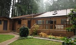 Perfect Island Getaway! Over 1500sq ft of living space features 3 BR, 2.25 BA; Vaulted Knotty Pine Ceilings, master Suite w/Sitting Area, Spacious Kitchen, abundant storage, 2 car garage & Workshop, detached home office & storage shed, Hot Tub Gazebo,