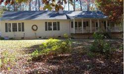 NORMAL SALE! Seller says bring all offers! Close quickly on this immaculate, 2500 sq ft home situated on nearly 5 peaceful, wooded acres at Lake Anna. Open floorplan features a huge kitchen w/breakfast bar and island, mud room, walk-in pantry, sunroom,