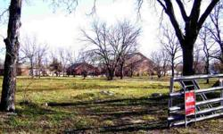 Seller says negotable! Great building site in the charming old town aledo.