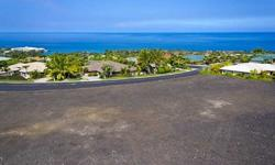 Feels like soaring over the ocean while admiring the view. Graded, clear, ready to build, location overlooking Keauhou Bay affords stunning ocean and sunset views. Enjoy ocean breezes at a low 450 feet. elevation; gated subdivision.Listing originally