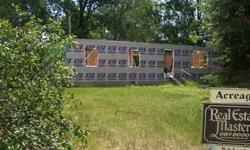 Great 2.42 acres located in Kimball Twp. on paved road, starter home on property gas, foundation, sidewalks, flooring. Home price not included in property. Possible land contract available.Listing originally posted at http