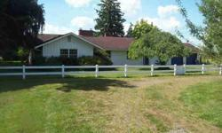 Here's a great value located just minutes south of Enumclaw, sitting on 7.5 level acres with additional connecting acreage available. The residence was constructed in 1958, is a 2,070 sq. ft. rambler containing 3 bedrooms and 2.75 bathrooms, with spacious