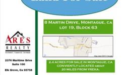 15.05 acres of Agricultural land. Located right across from a already developed sub-division. Don?t miss out on this one time opportunity!! Property includes Electricity, & Domestic Well with Pump. ACT NOW!