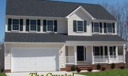 """This to-be-built home is """"The Crystal"""" - it is one of over 50+ house plans available from """"The Charleston Company Homebuilders"""". Currently building in a new south Stafford community called """"CRANEWOOD"""" located off Rt 1 by Centreport Parkway - convenient to"""