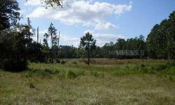 Over 5 acres away from it all! Approx. twenty min. from Eustis this property is what your looking for. Paved road frontage and ready to build single family or manufactured home.