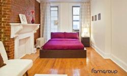 This sunny studio apartment is located on East 44th Street between 2nd and 3rd avenue. A second floor walk-up, the 580 sq ft. apartment includes everything you need for a comfortable life in the big city, with the added bonus of style and elegance at