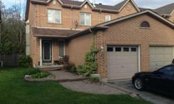 Available July 2nd. Up for Lease is this beautiful end unit town-house in desirable Williamsburg neighbourhood. Private backyard backing onto trees & park (no neighbours in the back) and located in the area with some of the nicest homes in all of Whitby.