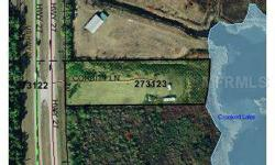LAKEFRONT LAND ON LITTLE CROOKED LAKE Just under 3 acres with 200' of lakefront,200' of US Hwy. 27 frontage and a canal on the north side, this property is very reasonably priced. It's a great spot for a residence or a weekend getaway where you can enjoy