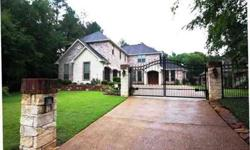 Beautiful French country custom home in Oak Hurst. If you desire a wonderfully built home on the golf course in a quiet cul de sac with your own private gate, wait no longer....this is the home for you. You will spend countless days enjoying the serenity