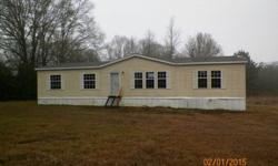2009 CAVALIER 28X60 4BED 2BATH ON 1.75 ACRES. HOME IS IN GOOD CONDITION READY TO MOVE INTO. CALL 601-421-8727