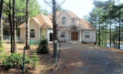 For sale by owner LAKEFRONT Custom Made 3-story home built in 2007in Poconos, 80 miles from Canal St, NY