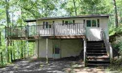 5/28/2012 Small house with fantastic View. Main floor has 2 bedrooms and 1 bath and features hardwood floors and vaulted ceilings. Lower level is partially finished with 1 bedroom, bath, and laundry area. Large deck gives plenty of room to enjoy views! If