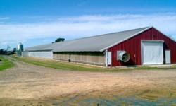 3 House Broiler Farm with 40 acres in Full Production priced to sell! Tyson contract (Wayne Foods area also). Tyson Foods is one of the leading supporters of U.S. farm families, paying more than $15 billion in fiscal 2013 alone to independent farmers who