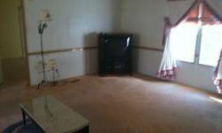 Nice 3bd 2bh doublewide sitting on six acres. Has a screened in porch with a view. Kitchen and breakfast bar. Den has a fireplace. TELEVISION stays also.Jeff Campbell is showing 2207 Bethel Rd in Nickelsville, VA which has 3 bedrooms / 2 bathroom and is