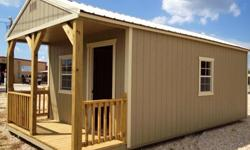 CALL OR TEXT YOUR EMAIL ADDRESS FOR E BROCHURE.THIS IS A BEAUTIFUL UNFINISHED CABIN THAT CAN BE USED FOR STORAGE, OR FINISH IT OUT FOR YOUR LEASE, OILFIELD HOUSE, POOL HOUSE, KIDS PLAYHOUSE..... ETCTOMMY 830-688-0024CELL
