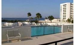 short sale; Enjoy sunsets on your private balcony overlooking the Gulf. 1st floor 2 bedroom 2 bath condo. Gulf Island Beach and Tennis is a gated community for all ages and pets are allowed. This furnished move in ready unit would be a great investment or