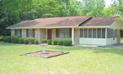 A delightful country location enhances this 3BR, 1 bath brick home in the Mendes community. Great condition with a large screened porch, a rear patio, and a beautiful shaded lot. Only minutes outside Glennville. No city taxes. Co-listed with Robbiette