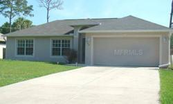 Short Sale. Affordable 3/2/2 with Designer Colors, Living Room and Family Room. Fully Fenced in Rear for Privacy. Great School System, Close to Golf Courses, Shopping, Restaurants, and Beaches. Refrigerator and Dishwasher in Garage to Replace those