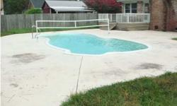 ** inground swimming pool ** poolhouse w/ screened porch ** open floor plan ** lots of room for the money ** pool is being cleaned up / shocked, etc ** large privacy fenced / enclosed yard ** great home in great school district needs tlc ** portion of