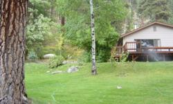 Cute 3 bedroom, 1 bath home for sale in Lowman, Idaho. Open floor plan, year round access, located on Hwy 21, right across from river, sits on hillside away from neighbors, large shed, lots of mature trees.