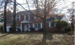 A timeless All BRICK center hall COLONIAL sited on nearly 1/2 acre lot* Home in good condtion ready for your remodeling touches*Gleaming hardwood floors*Fresh Paint*Spacious Rooms* Main level features large kitchen, formal living & dining plus family room