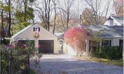 Nestled on almost a half acre, this special house built by Crane features mellow hardwood floors throughout and many updates, including a renovated kitchen, updtd baths, stone driveway and patio, replacement windows, 2-car garage. Mature trees on a