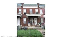 N Longwood st Baltimore,md 3 bed 1 bath Style of House