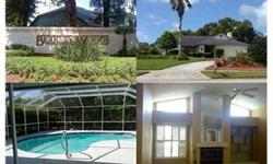 Nice large pool on an oversized lot at Berkley Woods. Potential 4th bedroom or use as office/den/library. Home offers nice features: Family Room with wood burning fireplace, master bedroom with sliding doors leading to a covered lanai and pool area ...