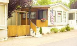 NICE CLEAN READY TO MOVE IN PARK MODEL IN AN RV PARK IN STAR VALLEY. 1 MILE SOUTH OF HWY 260 ON MOONLIGHT DRIVE. BARBAQUE, FENCED YARD, TWO TOOL SHEDS, PICNIC TABLE CHAIRS AND EMBRELA. BACK YARDS HAS SMALL FLOWER GARDEN AND LARGE PATIO AT GROUND LEVEL.